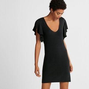 Express Flutter Sleeve Sweater Dress